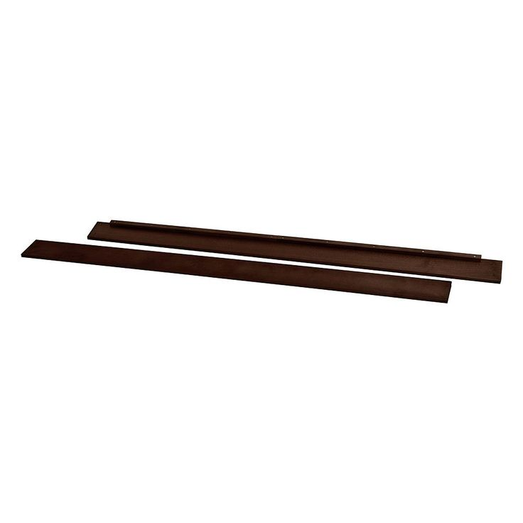 DaVinci Hidden Hardware Full-Size Bed Conversion Kit M5789, Brown