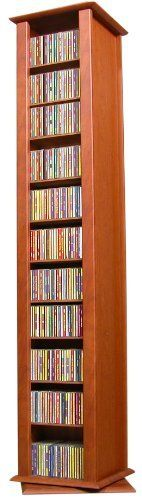 Venture Horizon Revolving Media Tower-2 Sided Cherry 2022 by Venture Horizon. $189.95. Organize An Entire Media Collection. These 4 sided beauties will brighten up any room. Because they rotate a full 360 you will never have to strain your neck locating your favorite CD DVD Video or Cassette. There are five models from which to choose so identifying the perfect match should be easy. Nearly all the shelves are adjustable so even odd sized media like Disney Tapes can be accommodat...