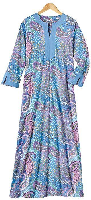 eff2795b90c538 AmeriMark Print Knit Robe at Amazon Women's Clothing store ...