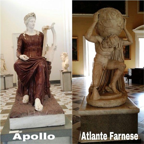Apollo e l'Atlante Farnese -  Il Museo Archeologico Nazionale di Napoli