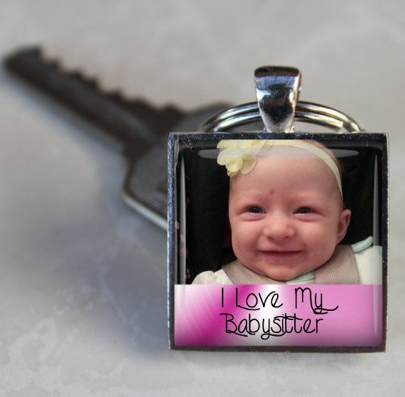 Personalized Keychain  I love my Babysitter with by AGiftToLove, $12.99