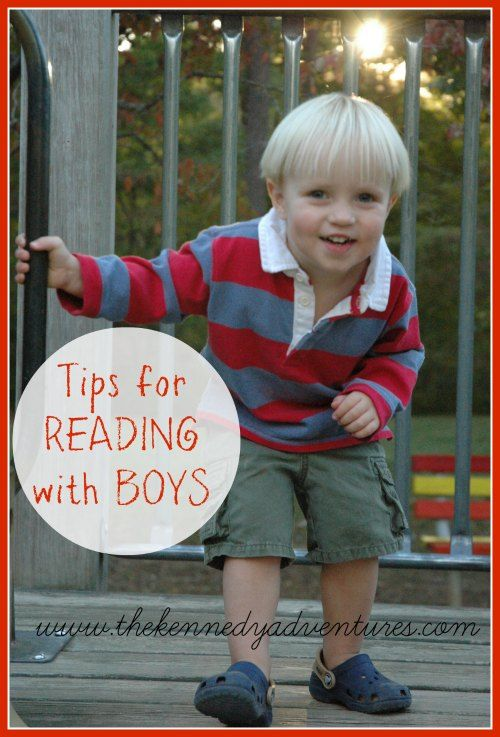 Tips for reading with boys.