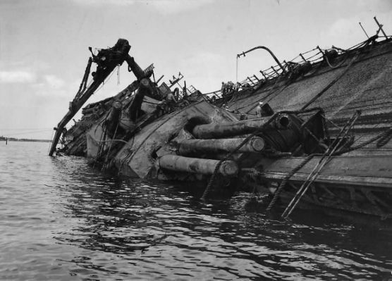 Wreckage of Battleship USS Oklahoma