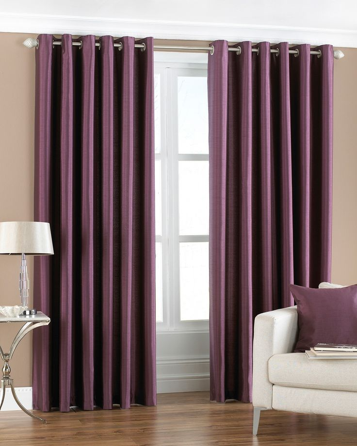 Create a modern statement with the Fiji Aubergine Curtains, a stylish way to transform your window. Ideal for modern decors, their purple colour will complement