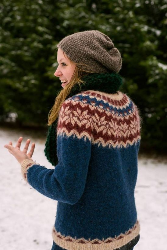 Lopapeysa, an Icelandic wool sweater: