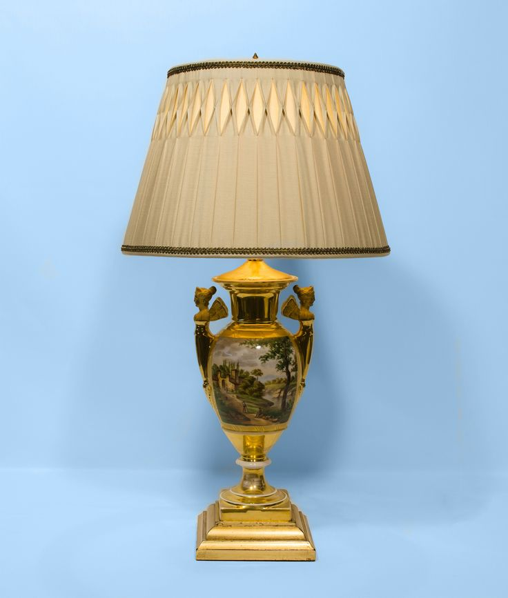 Old Paris Lamp with Custom Pleated Shade from The Lamp Shoppe, Atlanta.