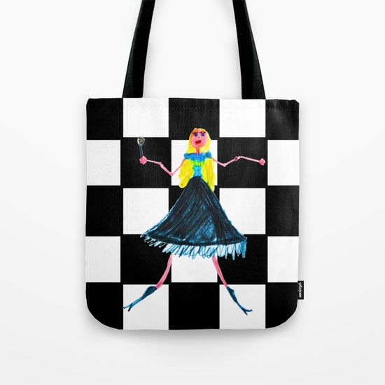 #SharemySociety6 #totebag #tapestry #singer #love #kids #painting #wallart https://society6.com/product/pop-star-singer_bag
