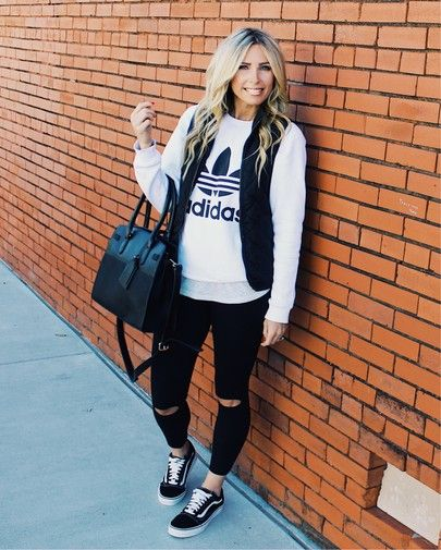 fall fashion, adidas original, adidas sweatshirt outfit, leggings outfit, vans outfit