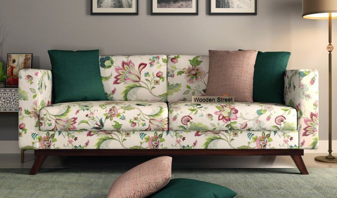 Buy Casper 3 Seater Sofa Cotton Rose Vineyard Online In India Wooden Street Seater Sofa Sofa Cotton 3 Seater Sofa