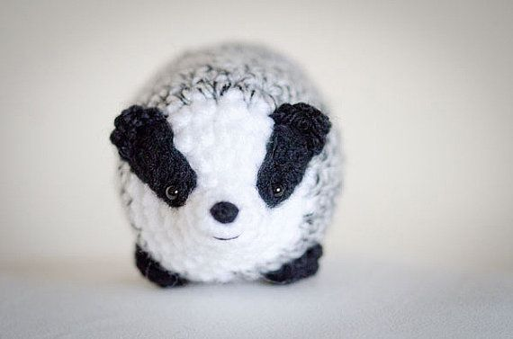 Cute Mystery Badger Amigurumi Kawaii Badger - Amigurumi Badger ...