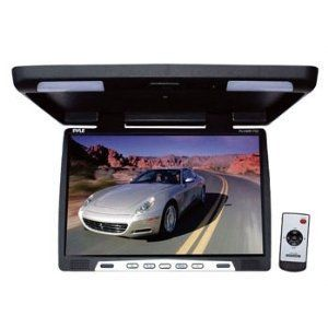 Pyle PLVWR1752 17-Inch Wide-Screen TFT LCD Roof Mount Video Monitor with IR Transmitter 17''TFT/LCD Active Matrix System - PAL/NTSC Compatible - Dual Dome lights. Super Slim Design - Two Video Inputs - Universal Roof Mount Console. On Screen Video Display Menu - Built-in IR Transmitter for Wireless IR Headphones - Power Input: Dc 12V. 16:9 Wide Screen Aspect Ratio - English OSD menu - Dimensions: ... #Pyle #Car_Audio_or_Theater