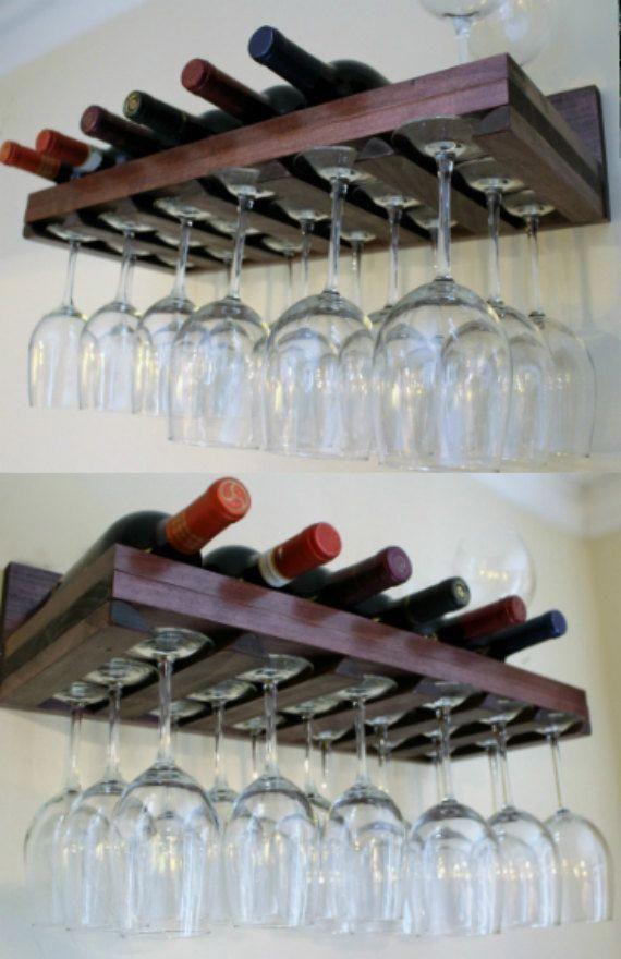 Summer 7 Bottle Wine Rack And Gl Holder от Theknottyshelf Winedelivery