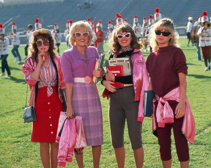 The Pink Ladies pledge to act cool, to look cool and to be cool.