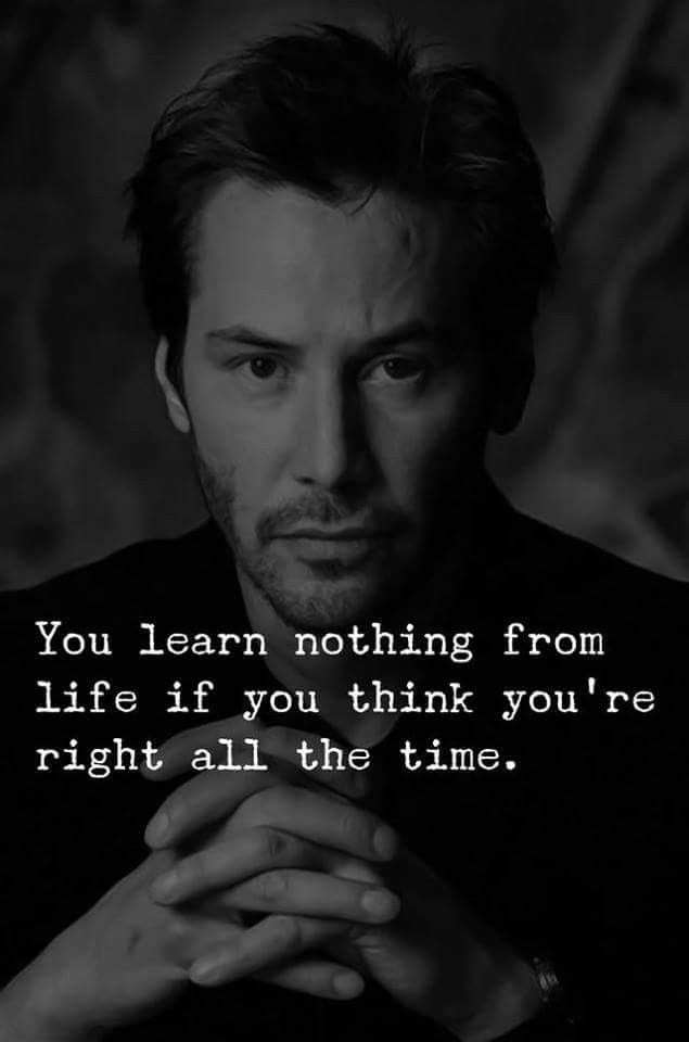 You learn nothing if you pretend to be perfect all the time...