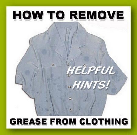 how to get grease out of clothes already washed