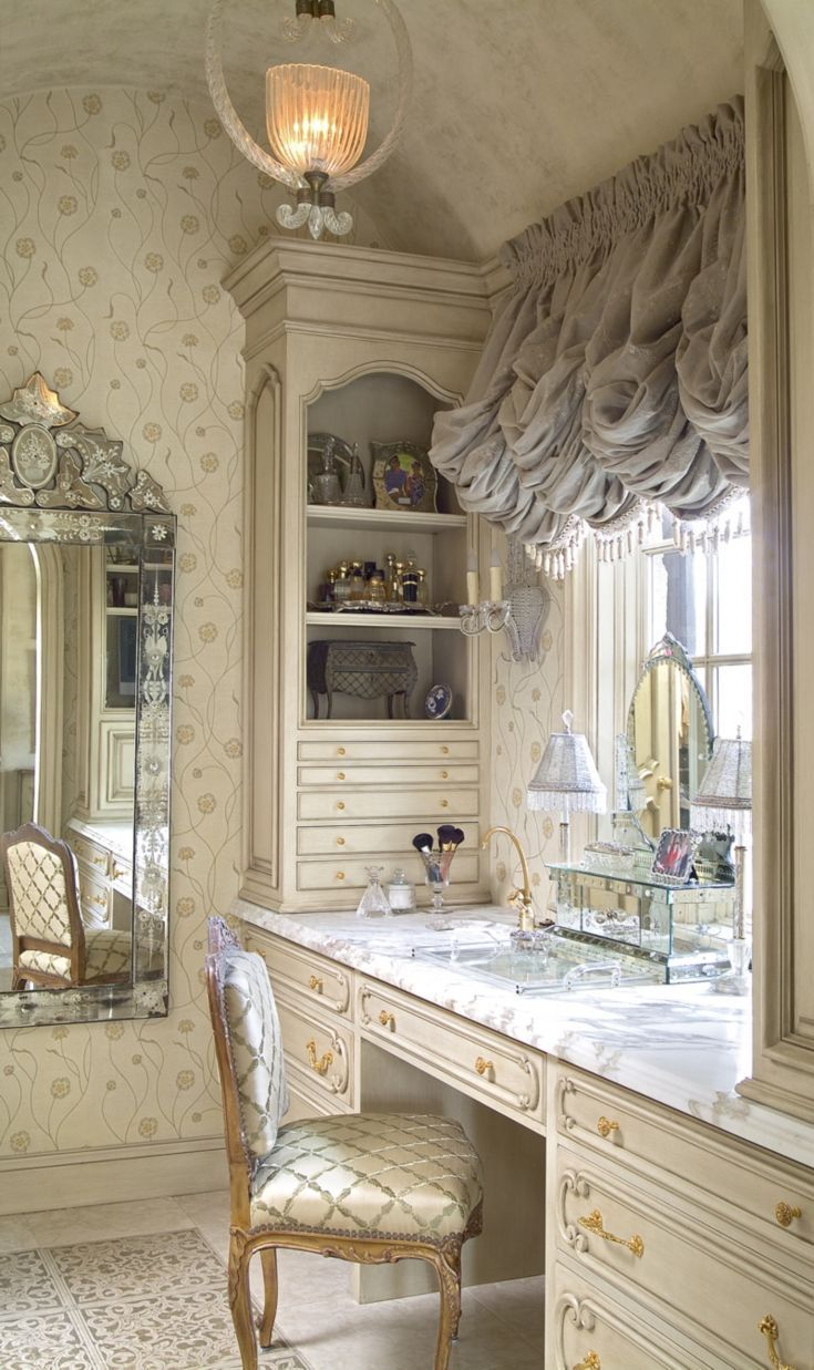 Contemporary condo bath modern bathroom chicago by jill jordan - Oh La La A Luxurious Vanity Fit For A Chateau Thanks To Hand Carved