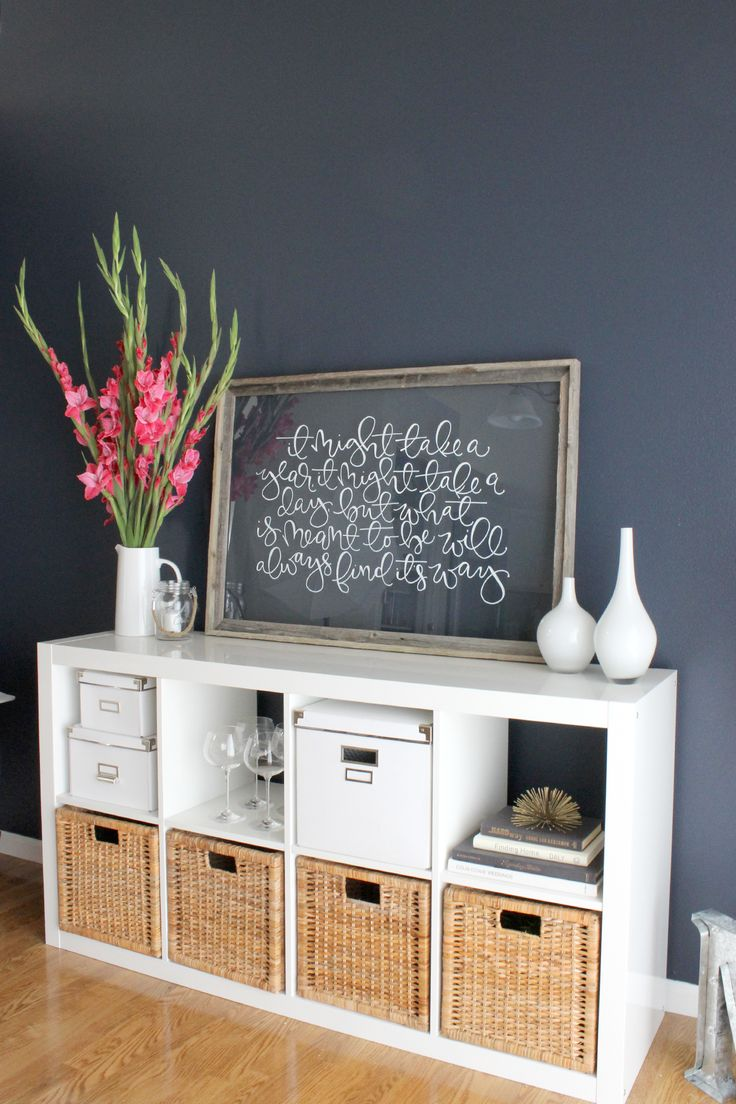 Dining Room Makeover - Saffron Avenue : Navy, White, Gold Accents