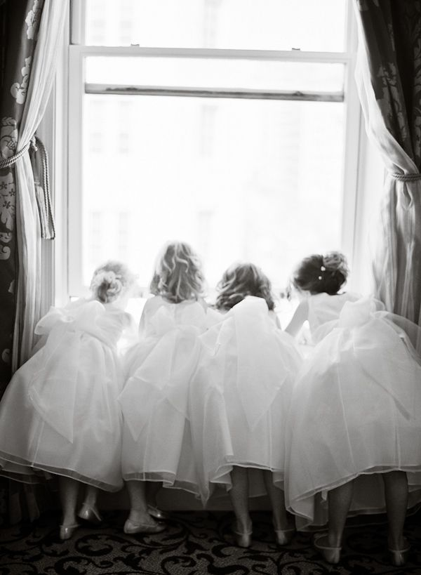 Bridesmaids in tutu dresses - how cute is this photo?