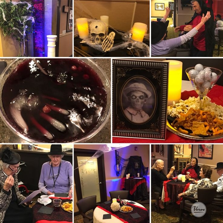 Richmond Hill Residents had a great time dressing up tonight and deciphering clues !    #eveningfun #richmondhillretirement  #verveseniorliving