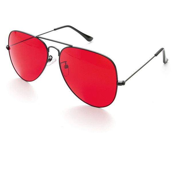 Top Bar Aviator Sunglasses (u20ac1,66) ❤ Liked On Polyvore Featuring Accessories