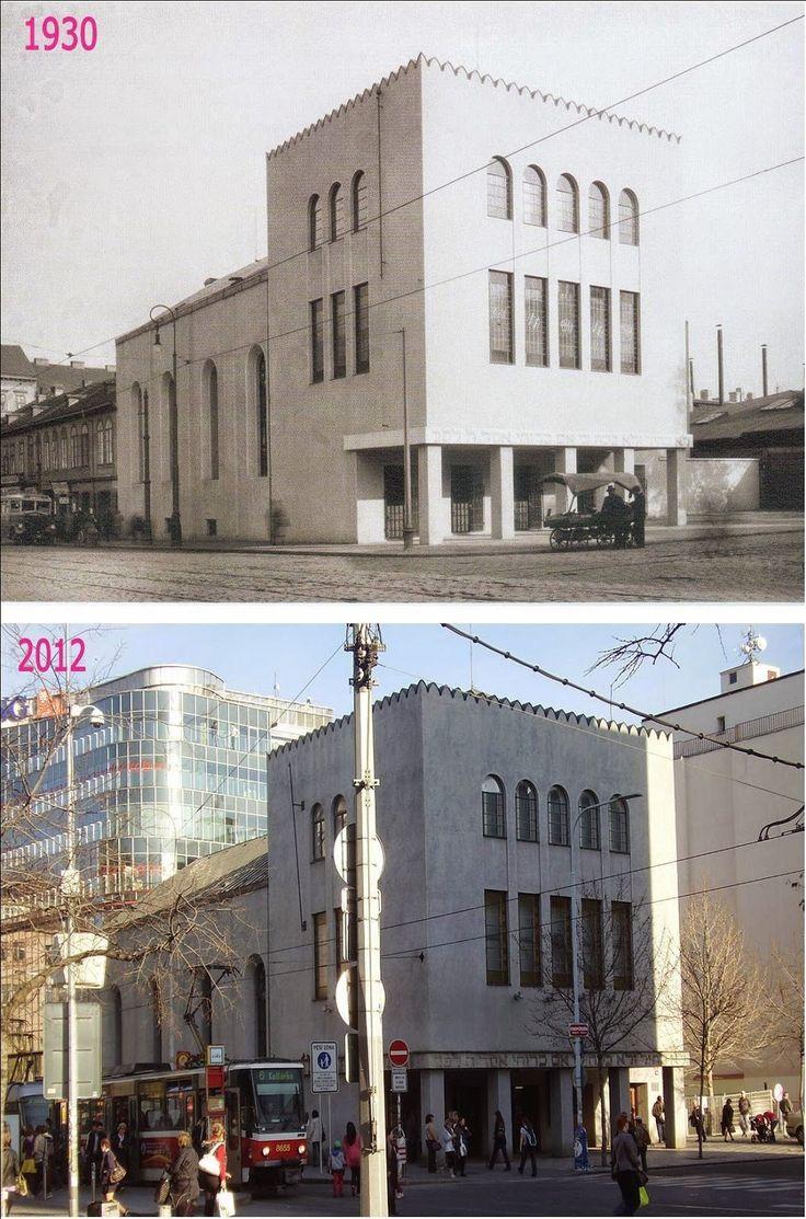 Smíchovská synagoga byla postavena v roce 1863 v maursko-novorománském stylu a v roce 1931 přestavěna podle projektu Leopolda Ehrmanna. V roce 2004 byla zrekonstruována. Dnes je zde archiv Židovského muzea a antikvariát. Původně dělnická čtvrť se zásadně proměnila.