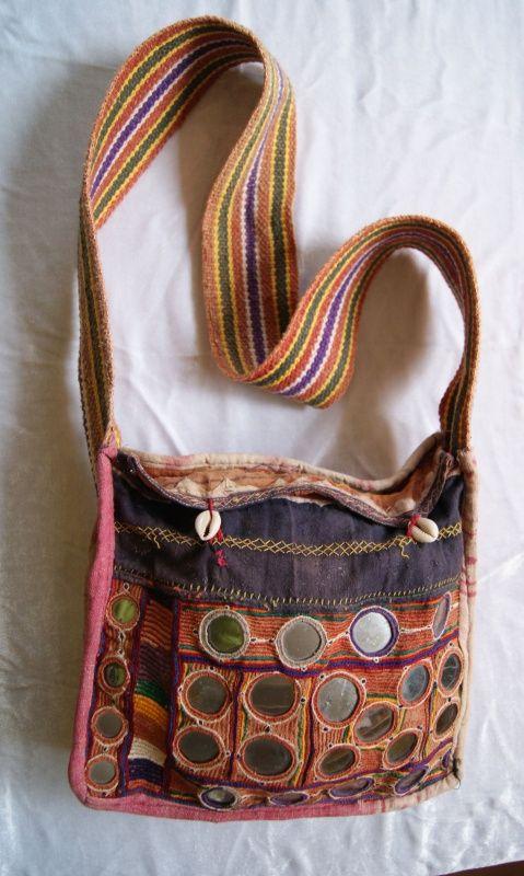 Tassen Uit India : Tribal fusion tas spiegeltjes en schelpen uit india hippy