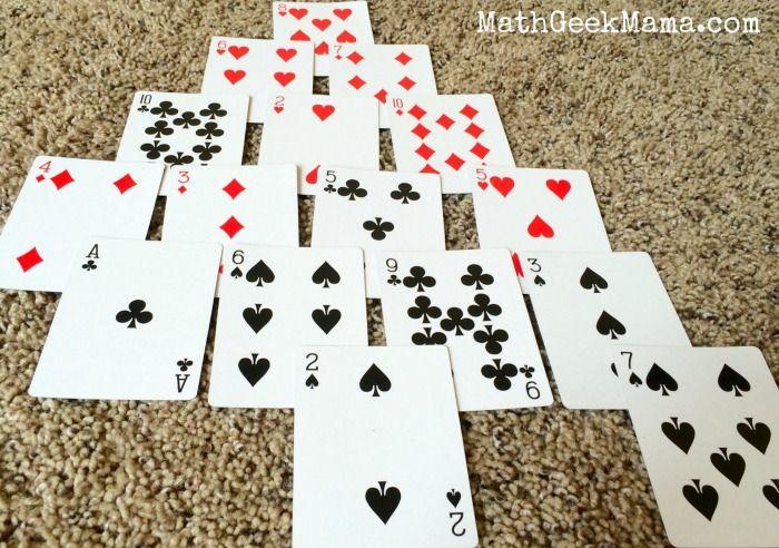pyramid a fun and easy math card game to make ten  math