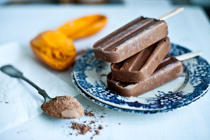Batonnets glacés Cacao & mangue