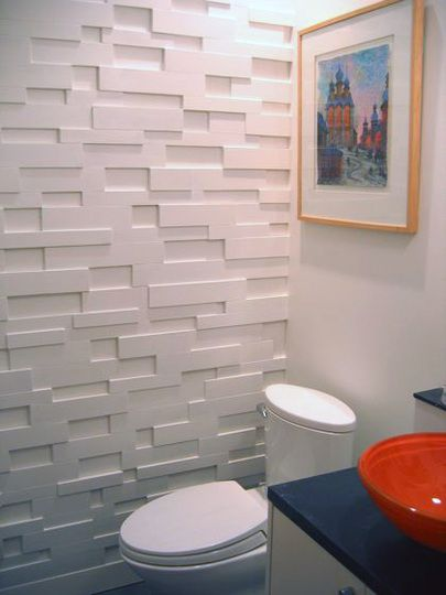Well Thats Just Cool By Using Some Scrap Pieces Of Mdf In 1 Bathroom Accent Wallaccent