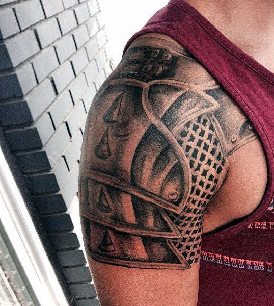 Discover the top 90 best armor tattoo designs for men featuring plate armor to shields gauntlets and more Explore ink ideas suited for the battlefields