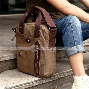 MUZEE™ Shepherd Plaza portable canvas vertical shoulder Messenger bag casual business man bag Korean men's bags
