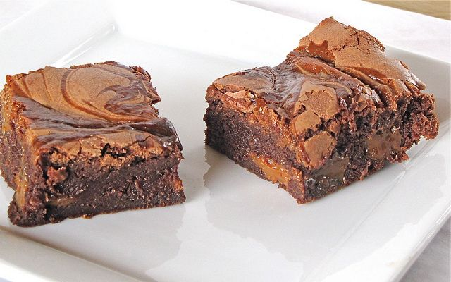 Dulce de Leche Brownies - Miss in the Kitchen