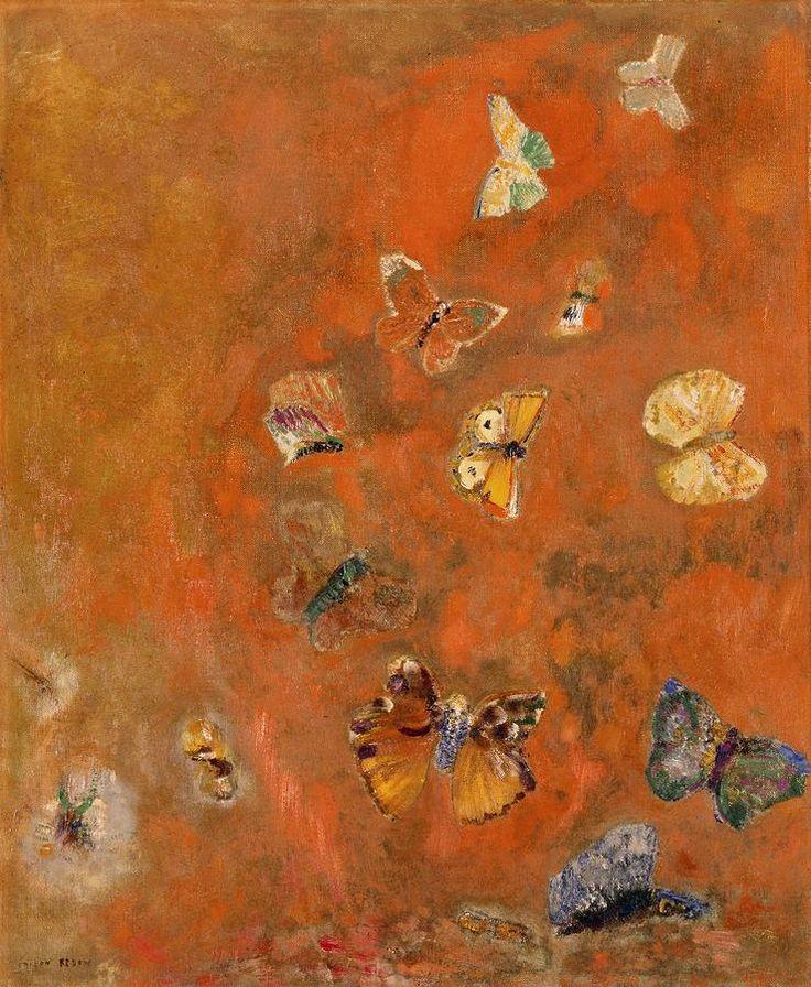 Odilon Redon (1840-1916) * Evocation Of Butterflies