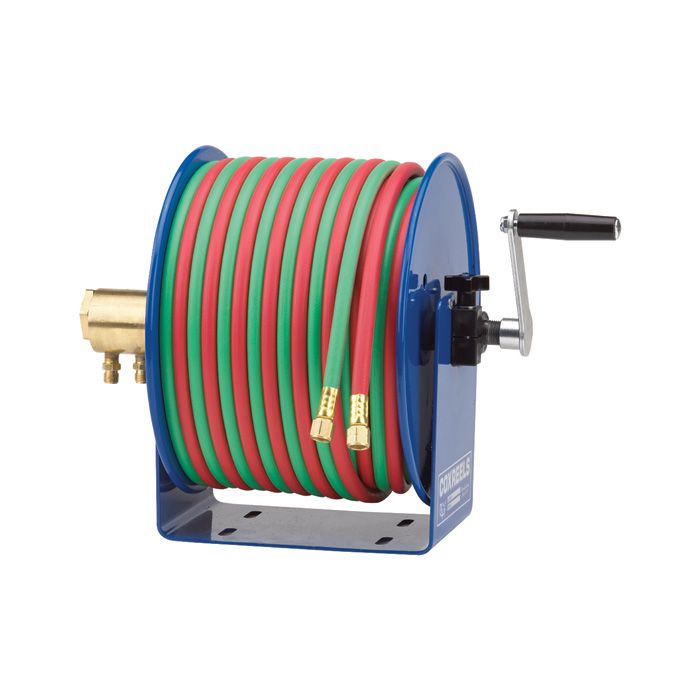 Made in the USA! Coxreels Oxy-Acetylene Manual Rewind Hose Reel — Holds a 100ft. x 1/4in. Hose, Model# 112WL-1-100 | Welding Hoses Reels| Northern Tool + Equ...