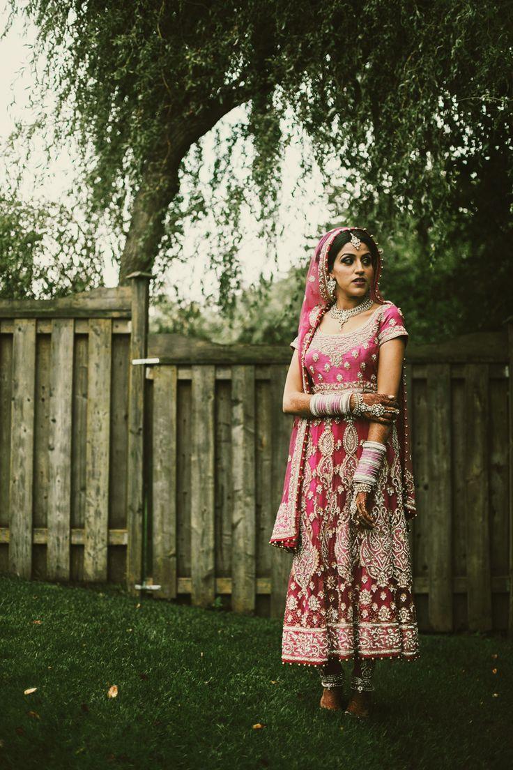Pretty pink bridal anarkali! | Photo by Nimboo https://www.facebook.com/beautagonal