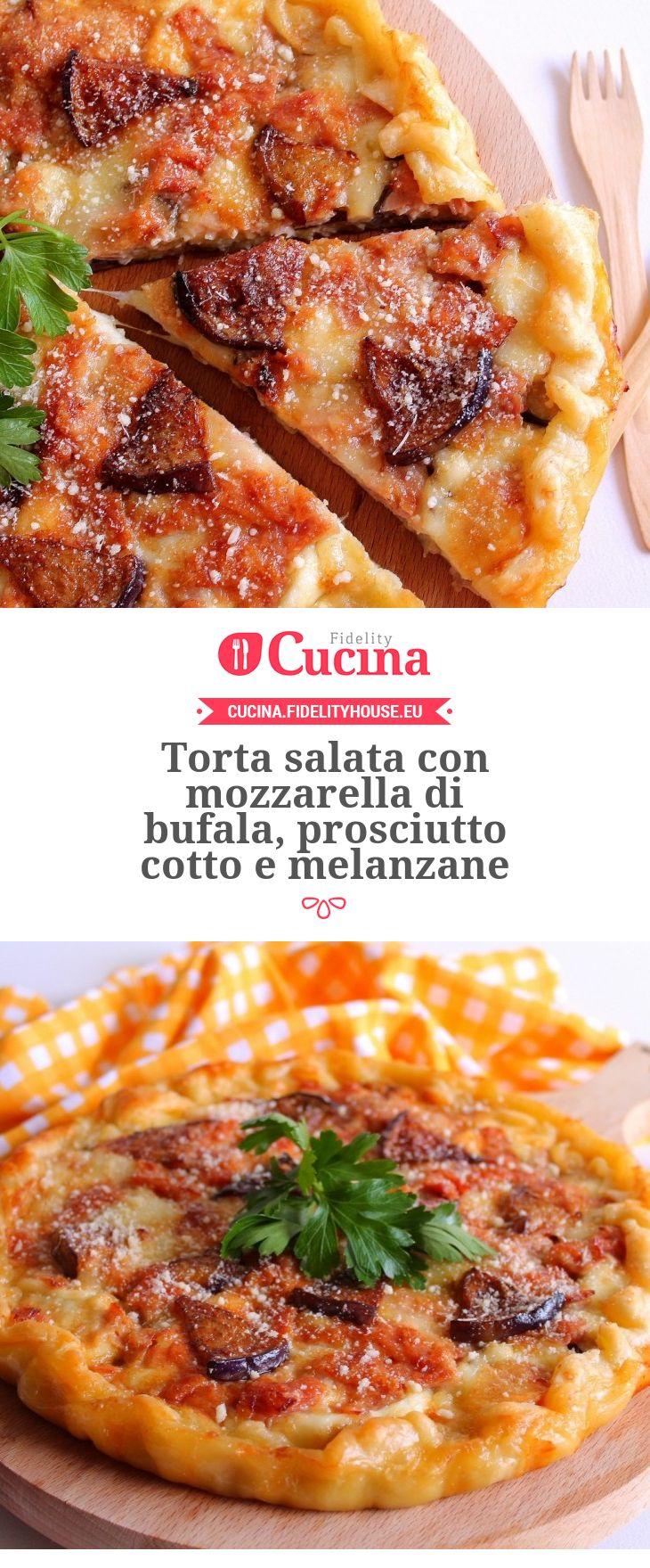 Torta salata con #mozzarella di bufala, #prosciutto cotto e #melanzane della nostra utente Giovanna. Unisciti alla nostra Community ed invia le tue ricette!