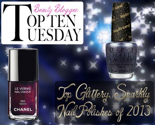 top glitter sparkly nail polish 2013 Top Ten Tuesday   The Best Glittery, Sparkly Nail Polishes of 2013