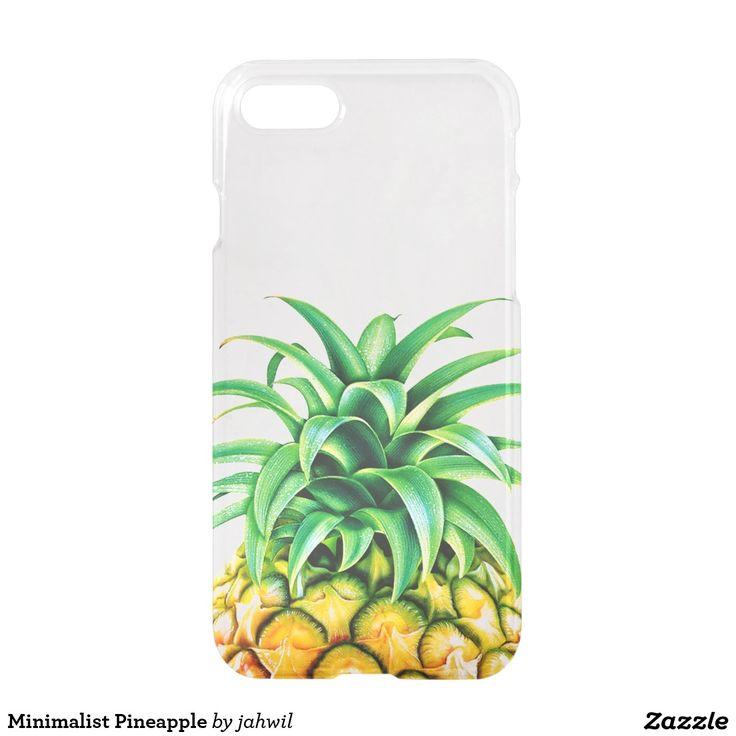 #iphone7 #pineapple #cool #summer #tropical #minimalist #fresh #funny #fruit #beach #travel #holidays  Minimalist Pineapple iPhone 7 Case