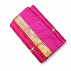 Cotton Silk Dhoti with shawl