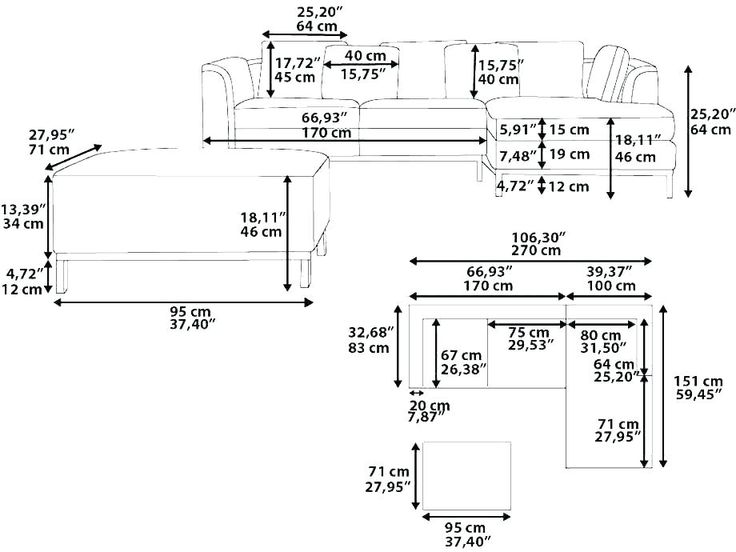 standard ch size sofa sizes dimensions in cm feet in 2020 ...