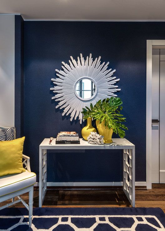 Mirror Navy And Blue Accent Walls On Pinterest