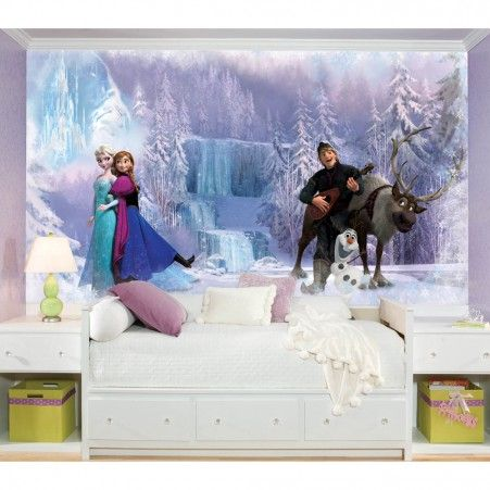 Create a Frozen scene with our giant XL #Frozen #wallpaper #mural!!