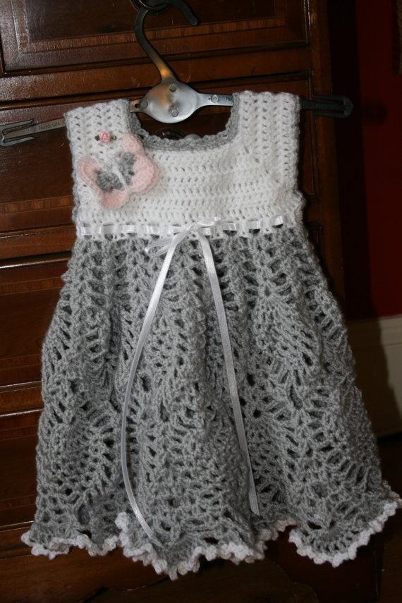 Girls dress Baby crochet dress Toddler dress by crochetyknitsnbits, £39.99