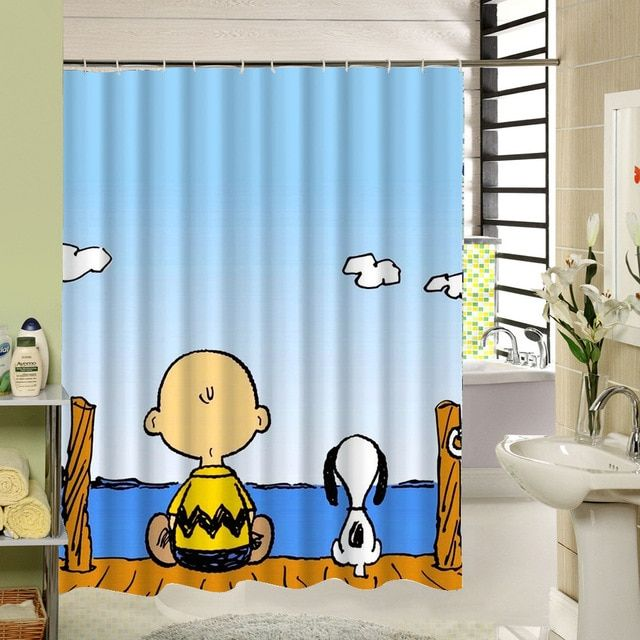 2017new Cute Carton Mickey Mouse Lion King Shower Curtain With