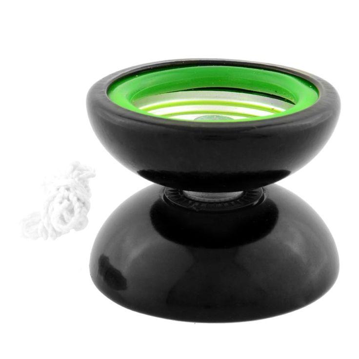 Профессиональный йо-йо металлический шар вращаться кошелек подарка малыш ребенок игрушка черный и зеленый