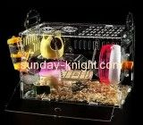 Display manufacturers customize perspex boxes large cheap hamster cages PCK-113