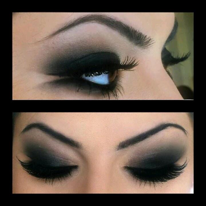 brown w matte black dramatic smokey eye beauty tips