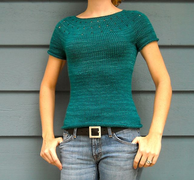 Simplest Sweater by Juliet Romeo Juliet | malabrigo Rios in Teal Feather
