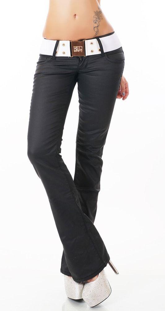 Stylové černé džíny
