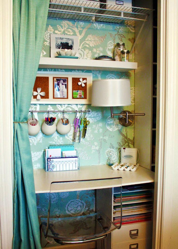 Un bureau dans le placard - Blog Déco   MYDECOLAB + des crédences de cuisine pour ranger ses stylos!